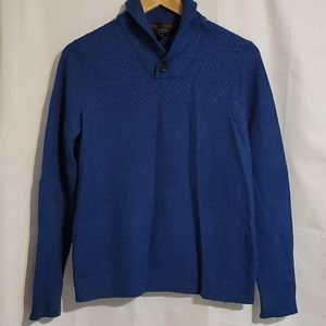 Ted Baker blue sweater with criss cross detailing